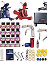 Complete Tattoo Kits 2 Machines 20 SetImmortal Tattoo Inks Lcd Dual Tattoo Power Supply