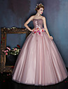 Dress Ball Gown Sweetheart Floor-length Satin / Tulle