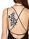 Yimei - Tatueringsklistermärken - Non Toxic/Waterproof - Blomserier - till Dam/Herr/Vuxen/Tonåring - Blå - Papper - 5 - styck 21*10.2cm -