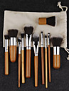 Pro Makeup Cosmetic Blush Brush Eyebrow Foundation Powder Kabuki Brushes Kit Set(11PCS)