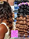 """3pcs / lot 12 """"-26"""" brasilianskt jungfru hårfärg 1b30 lös våg människohår väver"""
