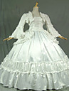 Steampunk®Gothic White Civil War Southern Belle Lolita Ball Gown Dress