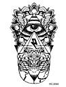 Brand New - Tatueringsklistermärken - Non Toxic / Mönster / Halloween / Stor storlek / Stam / Ländrygg / Waterproof - Totemserier / Annat