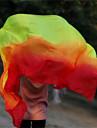 Belly Dance Real Silk Fans Veils Hot Selling Dancing Silk Veils Red-Orange-Yellow WYV1002 265*114CM