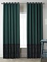 neoclassiques deux panneaux caracteres vert fonce salon rideaux a panneaux poly coton melange opaques