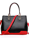Women PU Shopper Shoulder Bag / Tote - White / Blue / Red / Black