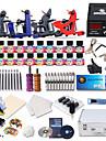 dragonhawk® professionelle tattoo kit 4 clasical maskiner s strømforsyning med gratis gave på 20 tatoveringsfarver