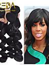 3pcs / lot obearbetade jungfru peruanska hår lös våg mänskliga hårförlängningar naturligt svart 8 \'\' - 30 \'\' människohår väver
