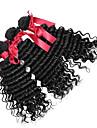 peruanska lös lockigt våg jungfru hår väva 7a peruanska virgin hår 3 buntar svart lösa lockigt våg människohår vävda
