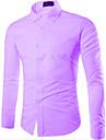 Chemises informelles ( Coton melange ) Informel Col chemise a Manches longues pour Homme