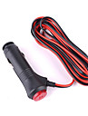 dearroad dc 12v / 24v 100W full koppar 2-wire bilens cigarettändare nätsladden linjeledarkabel 2m