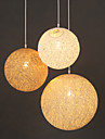 E27 15CM Line 1M Contemporary And Contracted Spherical Cany Art Lamp Hemp Ball Pendant Lamp Led Light