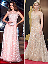TS Couture Formal Evening / Prom / Military Ball Dress - Pearl Pink Plus Sizes / Petite A-line Jewel Floor-length Tulle