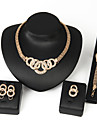 Necklace,Jewelry,XIXI Women Latest Fashion Alloy Rhinestone Imitation Pearl Necklace/Earrings/Bracelets/Rings Sets