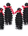 malaysiska löst lockigt våg hår natrual färg oskuld mänskliga hårförlängningar 4st / lot 7a högsta kvalitet 100% människohår