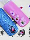 Vackert / Punk - Finger - 3D Nagelstickers / Nagelsmycken - av PVC - 1pcs - styck 65mm*55mm - cm