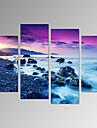 Fritid / Landskap / Fotografisk / Patriotisk / Modern / Romantik / Resor Canvastryck Fyra paneler Redo att hänga , Vertikal