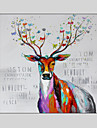 handmålade djur / fantasy modern oljemålning, duk en panel med ram