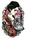 1 Tatouages Autocollants Series animales Series de fleur Series de totem AutresNon Toxique Motif Grande Taille Tribal Bas du Dos