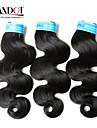 3st lot 8-28 ryska jungfru hår vågigt vågiga naturligt svart människohår väva buntar härva gratis hårförlängningar inslag