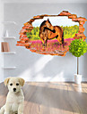 Animaux / Botanique / Noel / Bande dessinee / Romance / Mode / Paysage / Forme / 3D Stickers muraux Stickers muraux 3D , PVC90cm x 60cm(