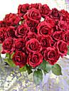Une succursale Polyester Gel de silice Roses Fleur de Table Fleurs artificielles 45cm*8cm*8cm