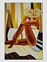 oljemålningar modern figur stil, dukmaterial med sträckt ram redo att hänga storlek: 60 * 90 cm.