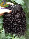 billiga pris 3pcs / lot 10inch brasilianska jungfru hår vatten våg svart färg rå människohår väver