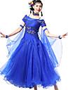 Dames - Moderne Dans / Uitvoering / Ballroomdansen - Outfits (Zwart / Fuchsia / Roze / Paars / Rood / Royal Blue / Wit en zilver / Geel /