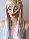 Highlights The Gradient Long Straight Hair Anime COSPLAY Wig Game The Blonde Fancy Dress Party Wigs