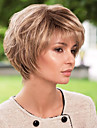 la perruque de moelleux a court ondules cheveux humains capless vierge remy mono top femme