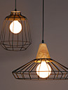 E27 25*30CM Nordic Creative Personality, Wrought Iron Chandelier Bar, Cafe Restaurant Retro Net Droplight  LED