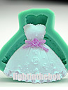 Valentine prințesă partid rochie diy silicon ciocolată budinca zahăr gheață tort mucegai culoare aleatoare