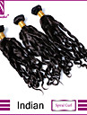 """3 st / lot 8 """"-30"""" indian jungfru spiral curl hårförlängningar 100% obearbetat jungfru människohår väver"""