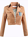 Inspire par Attack on Titan Eren Jager Anime Costumes de cosplay Tops Cosplay / Bas Couleur Pleine Rose Top