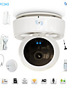 snov® stöldskydd hem trygghetslarm syestem med hd PTZ nätverks ir kamera med 8st trådlösa larmsensorer sv-vpc3k5