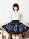 blå solen och månen magiska logo lolita kjol härlig cosplay