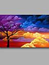 Peint a la main Paysage / Paysages AbstraitsModern Un Panneau Toile Peinture a l\'huile Hang-peint For Decoration d\'interieur
