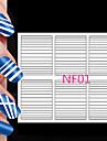 90pcs olika storlekar professionell göra mönster nail art verktyg # 01