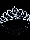 Vrouwen Bergkristal / Licht Metaal Helm-Bruiloft / Speciale gelegenheden Tiara\'s 1 Stuk