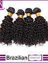 4pcs / lot cheveux crepus bresilienne vierge de cheveux boucle vierge bresilienne de cheveux bresilien non transformes regroupe naturelle