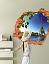 Arkitektur / Fashion / fantasi / 3D Wall Stickers Väggstickers i 3D , Vinyl stickers 87*56cm
