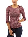 Damen T-Shirt  -  Quaste Baumwolle Langarm Mit Kapuze
