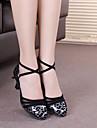 Chaussures de danse ( Argent / Or ) - Personnalisable - Talons personnalises - Flocage - Moderne