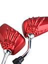 Voir paire moto arriere cote reflete squelette 10mm main rouge pour Suzuki