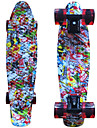 kito grafisk tryckt plast skateboard (22 tum) cruiser styrelse med ABEC-9 lager