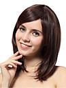 Capless mix färg högkvalitativa naturliga rakt hår syntetisk peruk