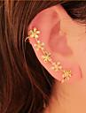 Cătușe pentru urechi Ștras Aliaj Flower Shape Margaretă Bijuterii Pentru Petrecere Zilnic 1 buc
