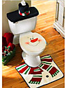 noel toilettes decoration housse de siege de toilette Snowman Santa