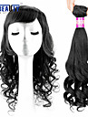 """1 st / lot 14 """"-22"""" 7a brasilianska jungfru hår päron blomma människohår väft 100% obearbetat brasilianskt remy hår väver"""